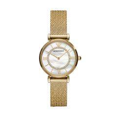Armani Watches Women's Gianni T-Bar Gold Round Stainless Steel Watch - AR11321