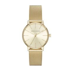 Armani Exchange Women's Lola Rose Gold Round Stainless Steel Mesh Watch - AX5536