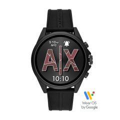 Armani Exchange Men's Black Silicone Smartwatch - AXT2007