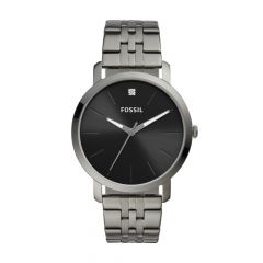 Fossil Men's Lux Luther Three-Hand Smoke Stainless Steel Watch -  BQ2419