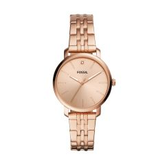 Fossil Women's Lexie Luther Three-Hand Rose Gold-Tone Stainless Steel Watch - BQ3567
