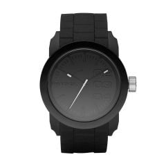 Diesel Men's Double Down Black Round Silicone Watch - DZ1437