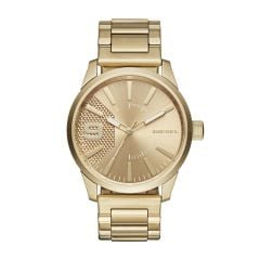 Diesel Men's Rasp Gold Round Stainless Steel Watch - DZ1761