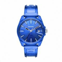 Diesel Watches Unisex 'S Ms9 Blue Round Nylon Watch - DZ1927