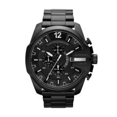 Diesel Men's Mega Chief Black Round Stainless Steel Watch - DZ4283