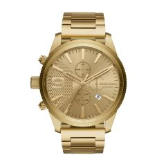 Diesel Men's Rasp Chrono 50Mm Gold Round Stainless Steel Watch - DZ4446