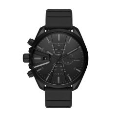 Diesel Men's Ms9 Black Round Silicone Watch - DZ4507