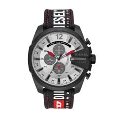 Diesel Men's Mega Chief Black Round Mixed Watch - DZ4512