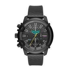Diesel Men's Griffed Black Round Silicone Watch - DZ4520