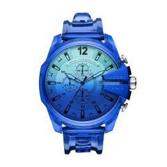 Diesel Watches Men's Mega Chief Blue Round Nylon Watch - DZ4531