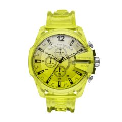 Diesel Watches Men's Mega Chief Yellow Round Nylon Watch - DZ4532