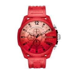 Diesel Watches Men's Mega Chief Red Round Nylon Watch - DZ4534