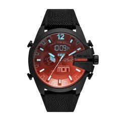 Diesel Mega Chief Analog-Digital Black Nylon and Silicone Watch - DZ4548