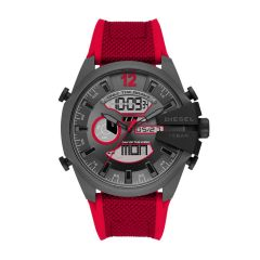 Diesel Mega Chief Analog-Digital Red Nylon and Silicone Watch - DZ4551