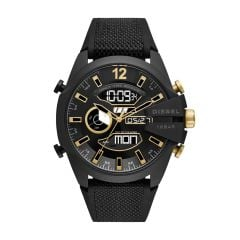 Diesel Mega Chief Analog-Digital Black Nylon and Silicone Watch - DZ4552
