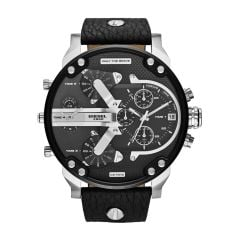 Diesel Men's Mr. Daddy 2.0 Silver Round Leather Watch - DZ7313