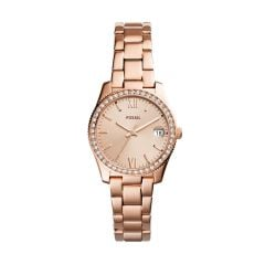 Fossil Women's Scarlette Mini Rose Gold Round Stainless Steel Watch - ES4318