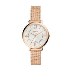 Fossil Women's Jacqueline Rose Gold Round Stainless Steel Watch - ES4352