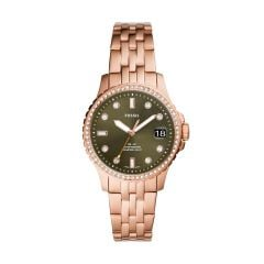 Fossil Women's Fb-01 Rose Gold Stainless Steel  Watch - ES4970