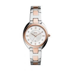 Fossil Women's Gabby Three-Hand Date Two-Tone Stainless Steel Watch -  ES5072