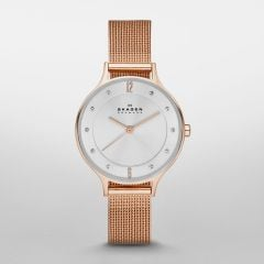 Skagen Women's Anita Rose Gold Round Stainless Steel Mesh Watch - SKW2151