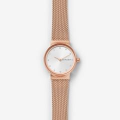 Skagen Women's Freja Rose Gold Round Stainless Steel Mesh Watch - SKW2665