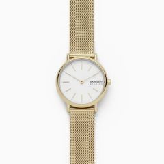 Skagen Women's Signatur Gold Round Stainless Steel Mesh Watch - SKW2693
