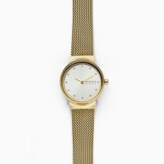 Skagen Women's Freja Gold Round Stainless Steel Mesh Watch - SKW2717