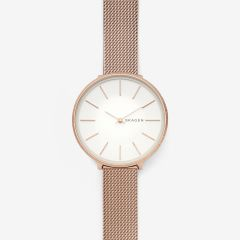 Skagen Women's Karolina Rose Gold Round Stainless Steel Mesh Watch - SKW2726