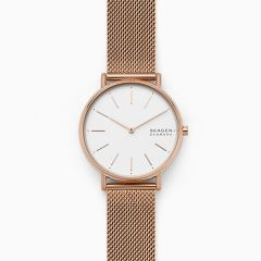 Skagen Women's Signatur Rose Gold Round Stainless Steel Watch - SKW2784