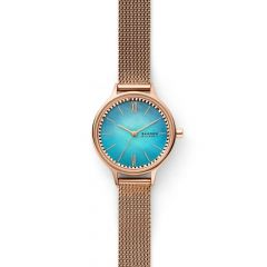 Anita Three-Hand Rose-Tone Steel-Mesh Watch - SKW2977
